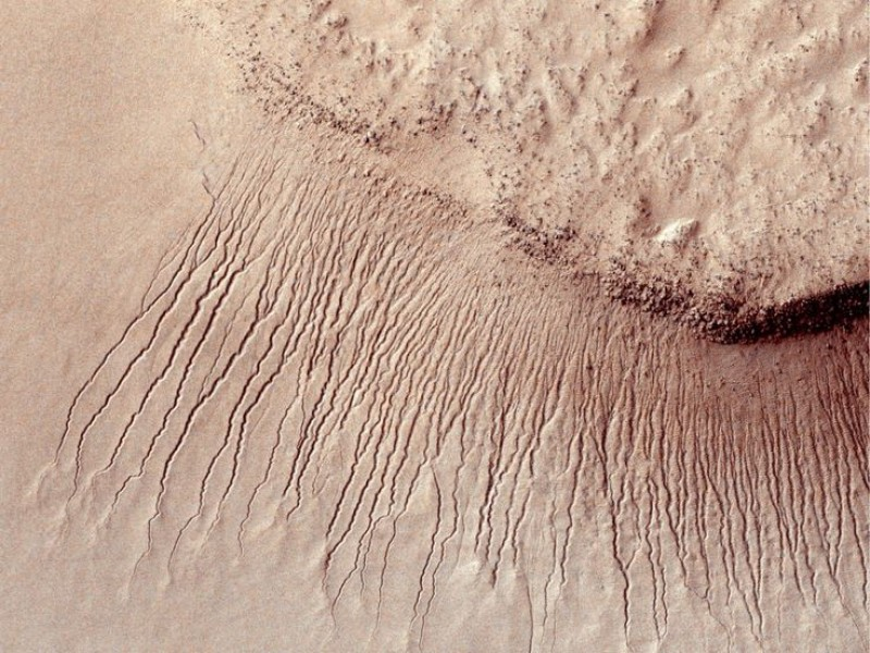 A Mars Mystery: How Did Land Form Without Much Water?