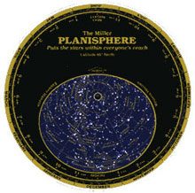 Datalizer Slide Charts Miller's Planisphere Small 40 Degrees North Latitude