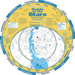 "Ken Press David H. Levy Guide to the Stars 11"" Star Chart"