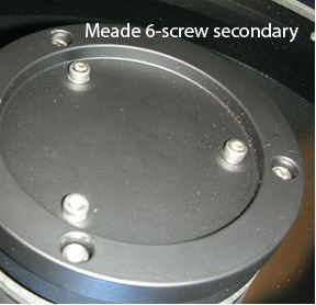 "Bob's Knobs for Meade 10"" f/10 with 6-Screw Secondary"