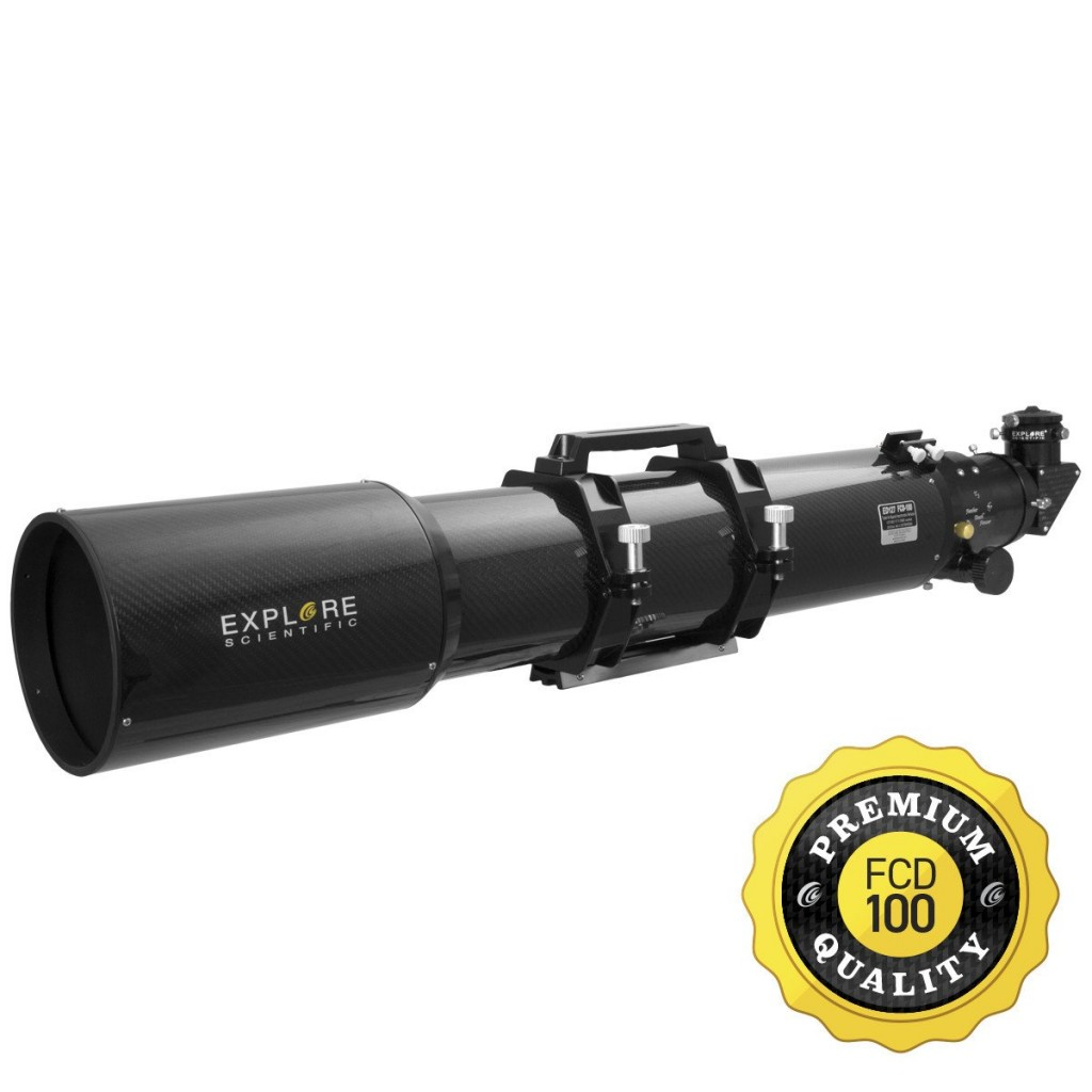 "Explore Scientific 127MM Carbon Fiber FCD100 ED APO Refractor w/ 3"" Feather Touch Focuser"