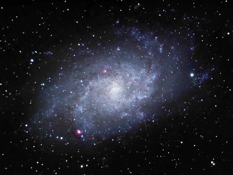 andromeda galaxy through telescope - 800×600