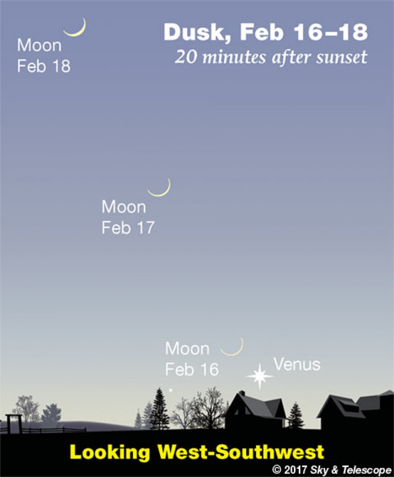 This Week's Sky at a Glance, February 16 – 24