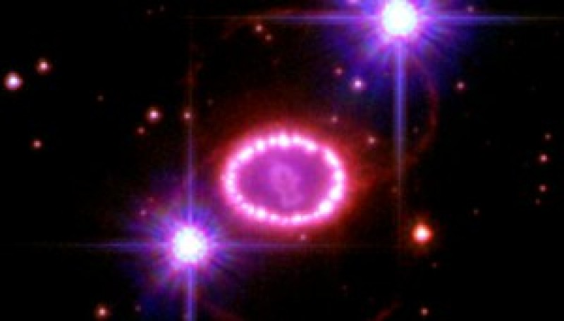 Wheel-spoke Magnetic Field in Supernova 1987A