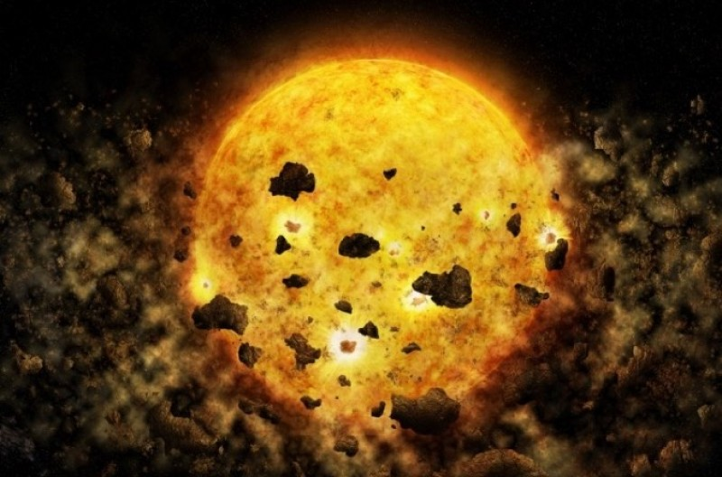X-rays indicate collision of young planets may explain star's dimming