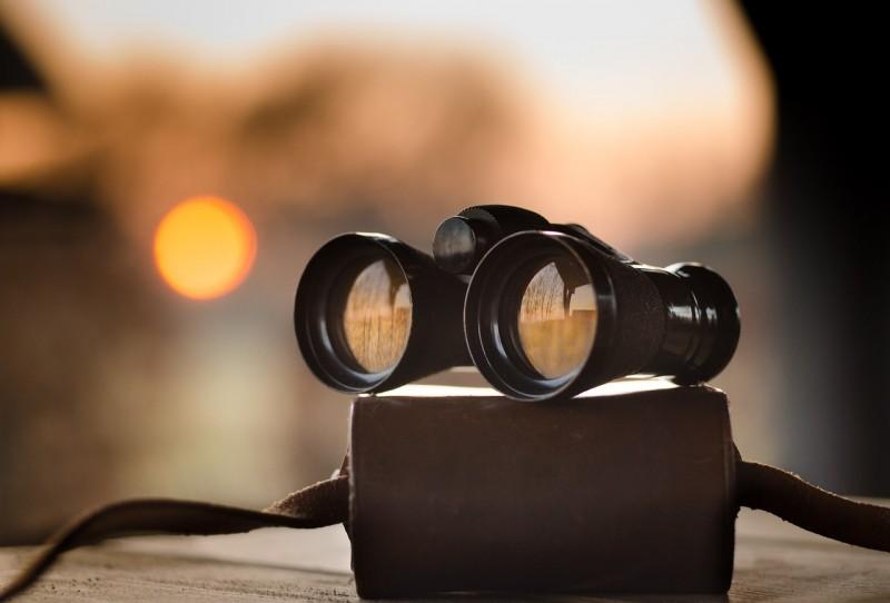Using binoculars
