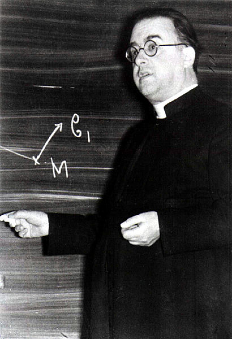 The Jesuit astronomer who conceived of the Big Bang