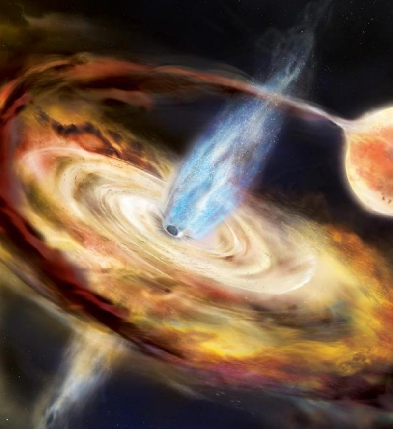 Astronomers map a black hole using