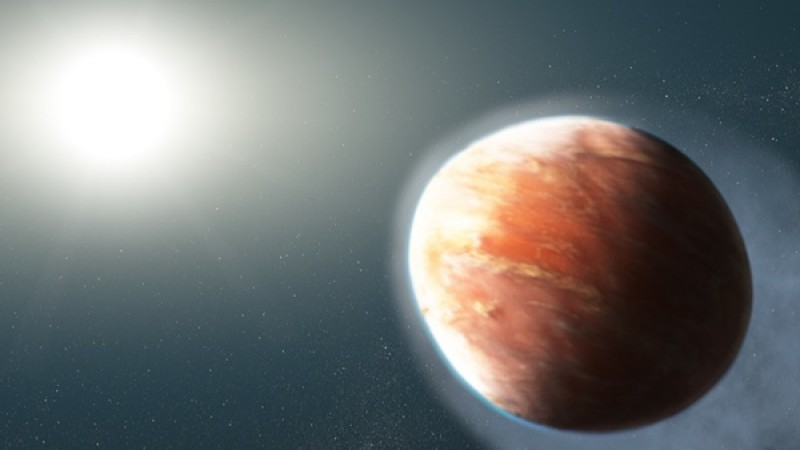 Hubble spots a football-shaped planet leaking heavy metals into space
