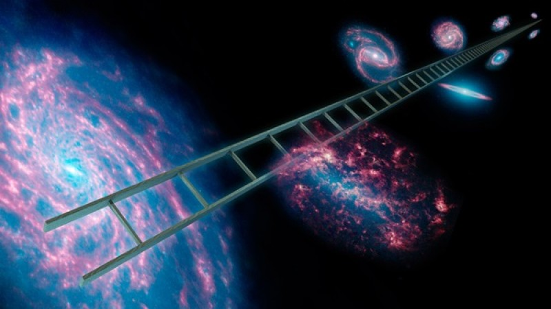 The cosmic distance ladder: How we measure an infinite universe