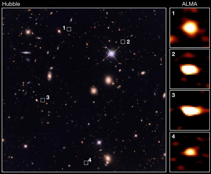 Astronomers discover vast ancient galaxies, which could shed light on dark matter