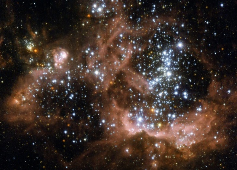 Cosmic collision may reveal how giant stars form
