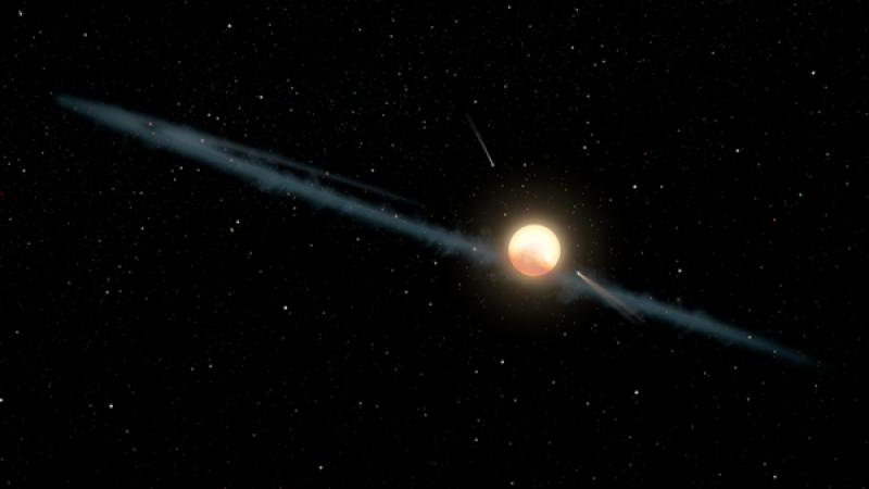Shredded exomoon may explain weird behavior of Tabby's Star