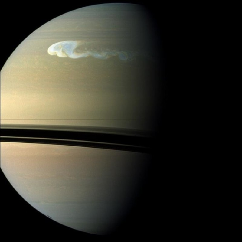 A new kind of storm appears on Saturn, puzzling astronomers
