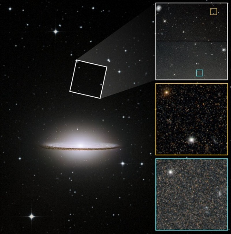 Hubble finds hints the Sombrero galaxy had a turbulent past
