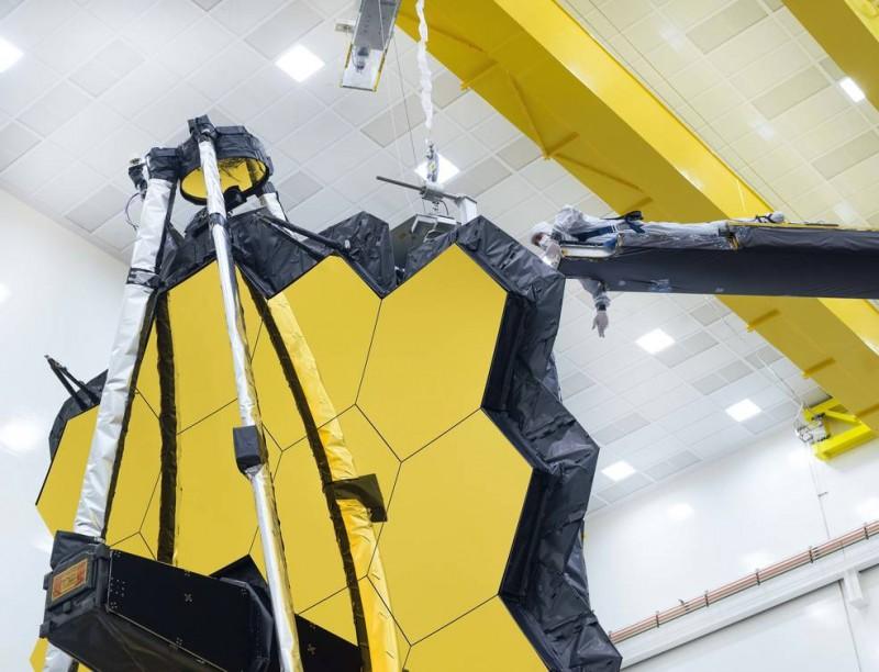 Webb's Golden Mirror Wings Open One Last Time on Earth