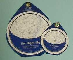 David Chandler & Co. The Night Sky Planisphere - Small 30°N-40°N