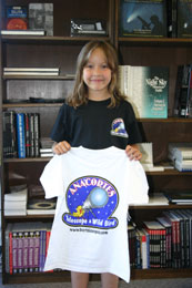 Anacortes Telescope Logo Kid's T-Shirt Large (Black)