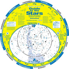 "Ken Press David H. Levy Guide to the Stars 16"" Star Chart-SPANISH"