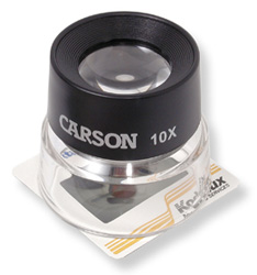 Carson LumiLoupe 10x Stand Magnifier