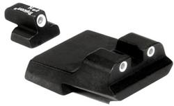 Trijicon Night Sight Set for S&W Compact, 9mm Long Rear, 3 Dot, Green Front, Green Rear SA08