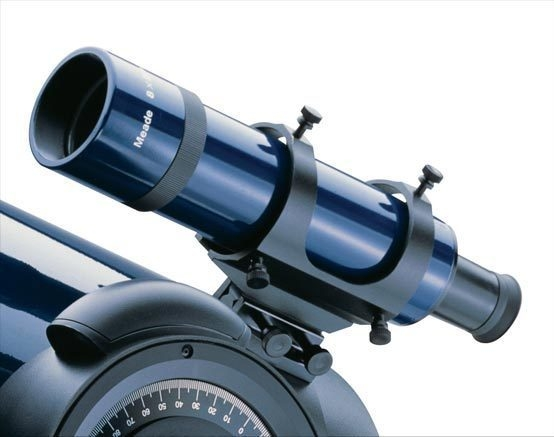 Meade #828 8x50 Rear Focus Finderscope w/Bracket (Blue)