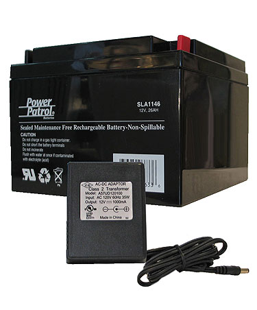 Takahashi 12V/26AH Gel Cell Battery w/Charger