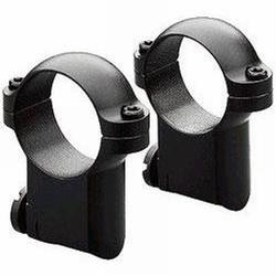 Leupold RM CZ 527 No Tap Ring Mount, 1in, 1in Height, Matte Black, Medium, 54360