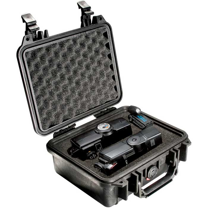 Pelican 1200 Case w/Foam (Black)