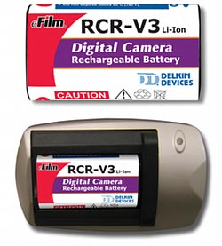 Delkin Devices Rechargeable CR-V3 Battery W/Charger