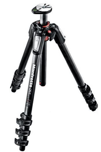 Manfrotto 055 Aluminium Carbon Fiber 4-section Tripod w/ Horizontal Column
