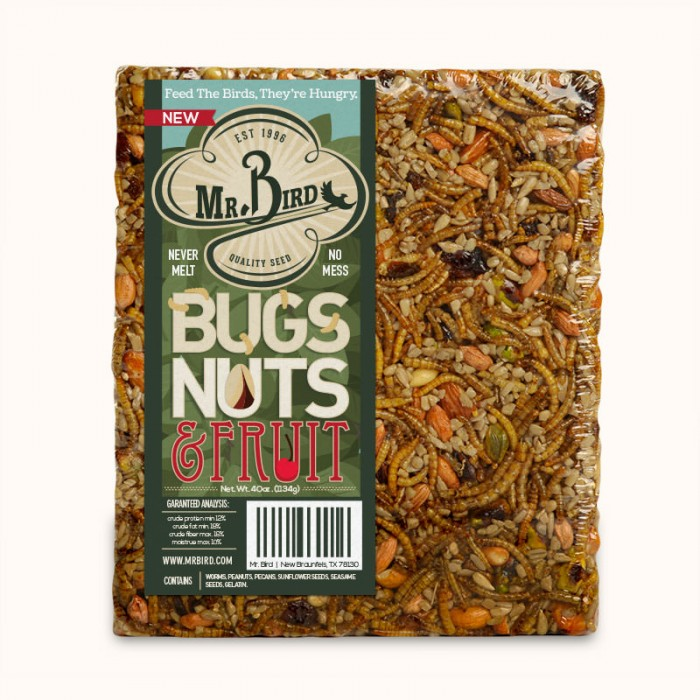 Mr. Bird Bugs, Nuts and Fruit Large Cake (Full Case)