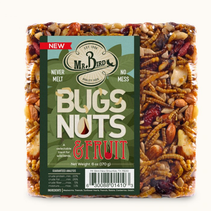 Mr. Bird Bugs, Nuts and Fruit Small Cake