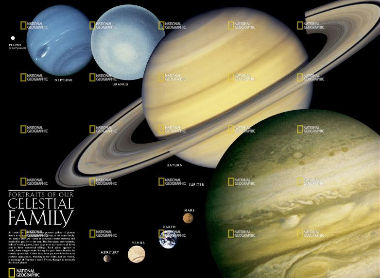 National Geographic Solar System Reference Map (Laminated)