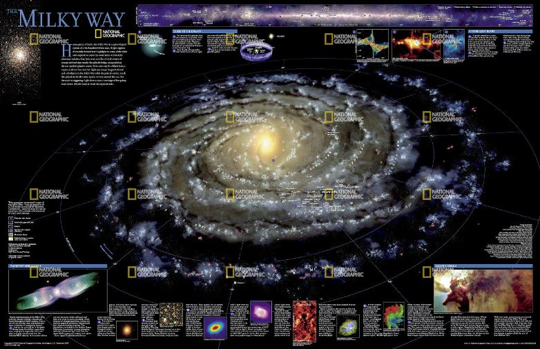 National Geographic Milky Way Reference Map (Laminated)
