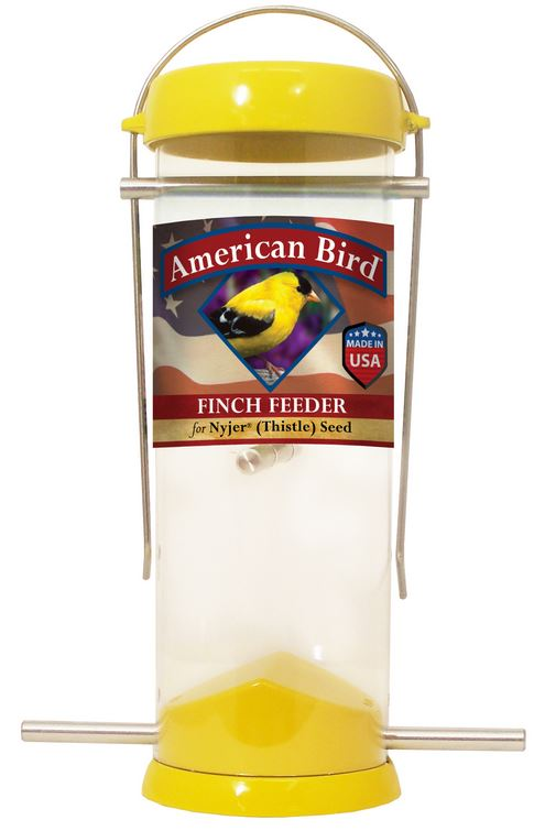 Droll Yankees American Bird 8″ Yellow Finch Feeder (AB-F8Y)