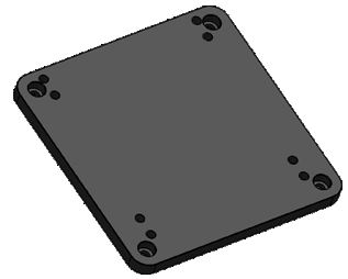 Software Bisque MX Pier to Paramount MYT Base Adapter Plate
