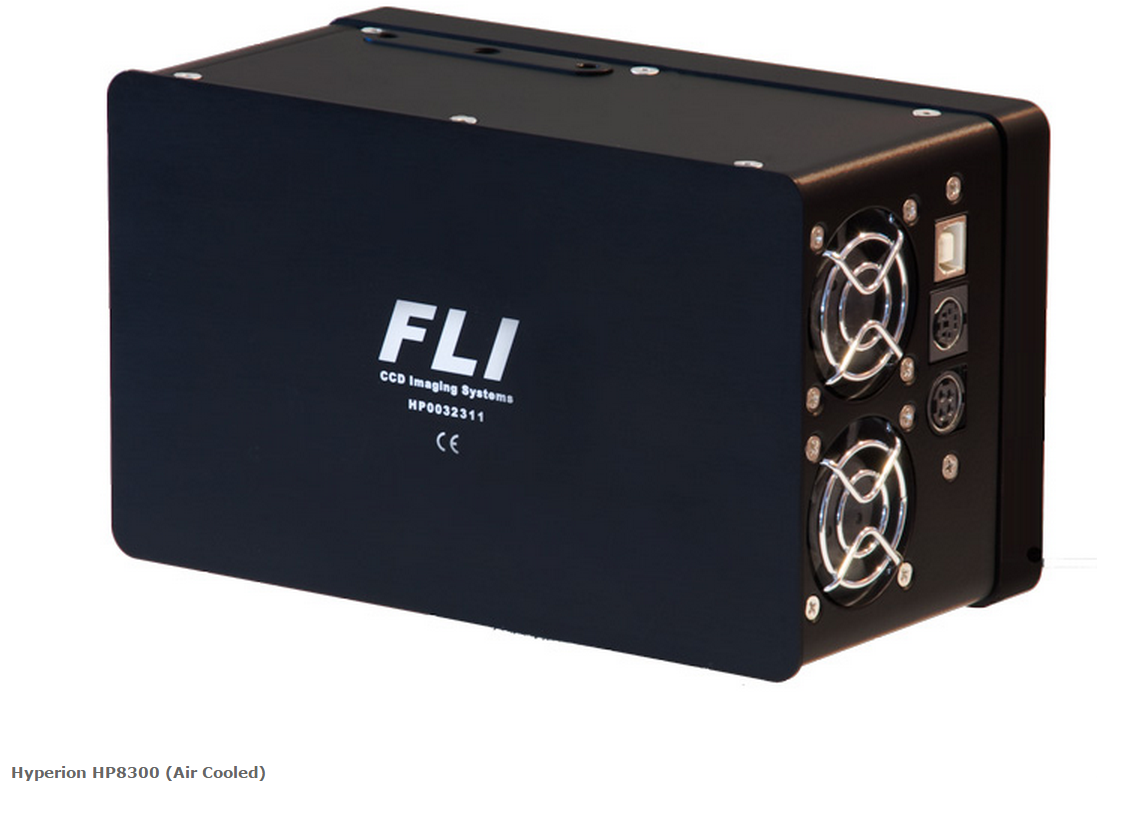 FLI CCD47-10-1-373 UV w/ 25mm or 45mm High Speed Shutter, Fused Silica