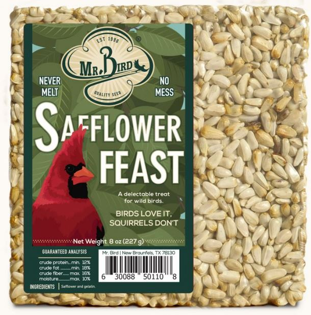 Mr.  Bird Safflower Block #110SF - 8oz.