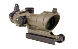 Trijicon ACOG 4x32 Scope with TA51 Mount, CK-FDE, Tritium Only, Center Illuminated Amber Crosshair . 100319