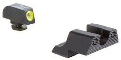 Trijicon Heavy Duty Night Sights Yellow Front Outline For Glock 42