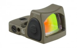 Trijicon RMR Type 2 Adjustable LED 3.25 MOA Red Dot Sight, FDE, 3.25MOA, 700696
