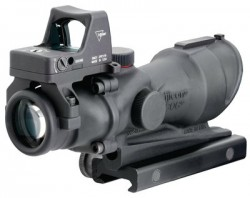 Trijicon ACOG 4x32 Riflescope with Center Illuminated Amber Crosshair and 4.0 MOA RMR Sight