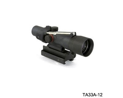 Trijicon 3x30 Compact ACOG Scope,Dual Illuminated Amber Crosshair .308 Winchester Ballistic Reticle w/Colt Knob Thumbscrew Mount 400122