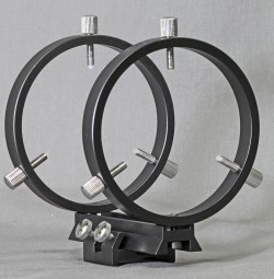 Stellarvue 80 MM FINDER RINGS - MOUNTS TO SV CLAMSHELLS, FLAT OR CURVED SURFACE - R080AT