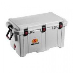 Pelican 50QT Elite Cooler White / Grey