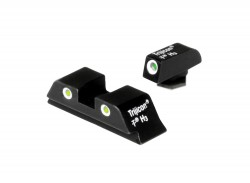 Trijicon 3 Dot High Night Sight Set - Green Front, For Glock