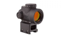 Trijicon MRO 1x25mm Adjustable Red Dot Sight, 2MOA Dot Reticle, Black, w/MRO Lower 1/3 Co-Witness Mount, MRO-C-2200006