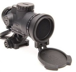 Trijicon 1x25 MRO Patrol 2 MOA Adjustable Red Dot Sight w/Full Co-Witness Quick Release Mount AC32070, Black, 2200019