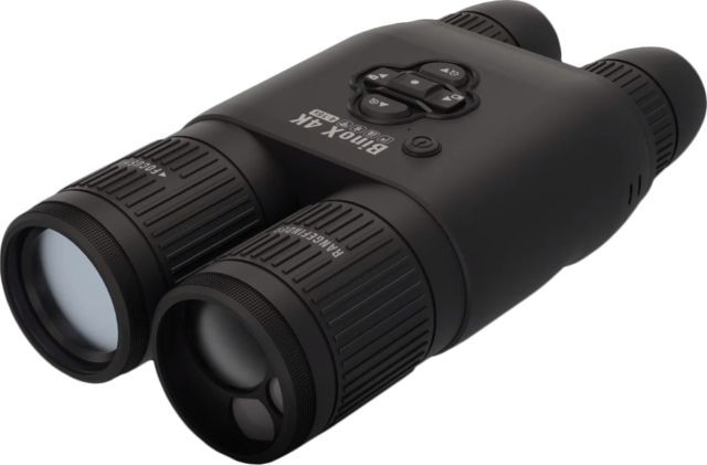 ATN BinoX-4K 4-16x65 Smart Day/Night Binoculars, Laser Rangefinder, Black, DGBNBN4KLRF